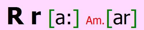 English alphabet R r