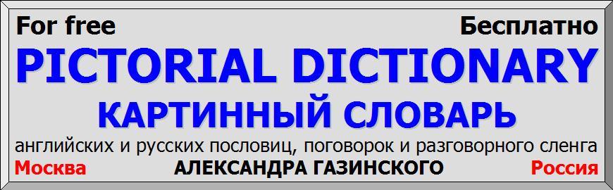 Картинный словарь русских английских пословиц поговорок разговорного сленга