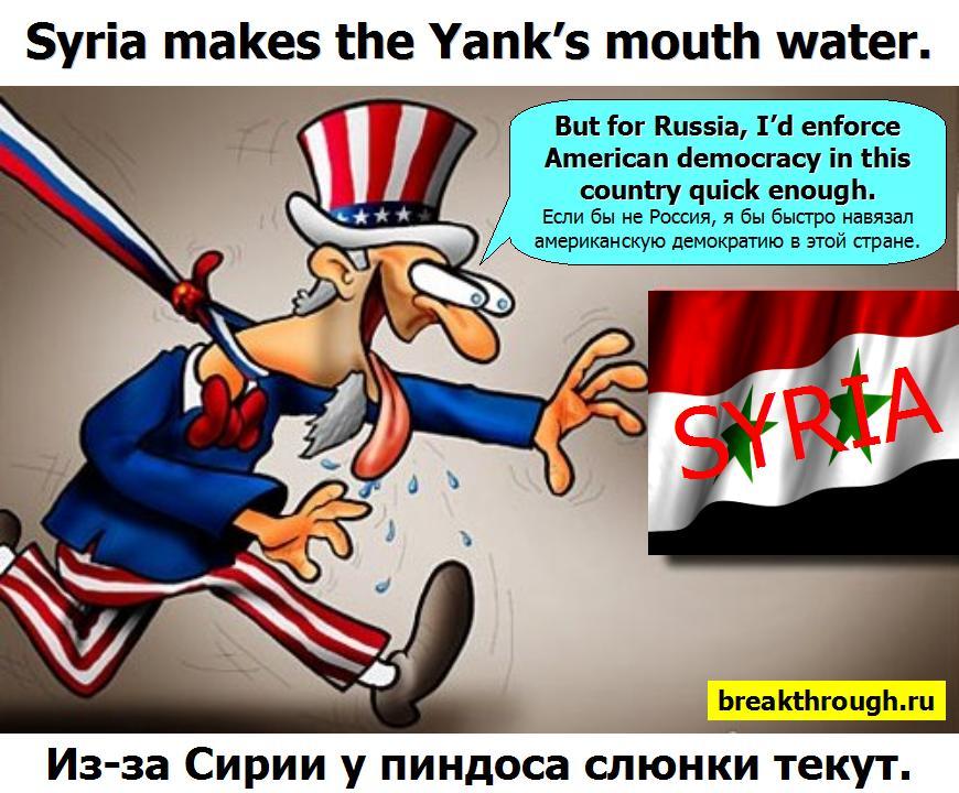 У алчного пиндоса слюнки текут из-за Сирии