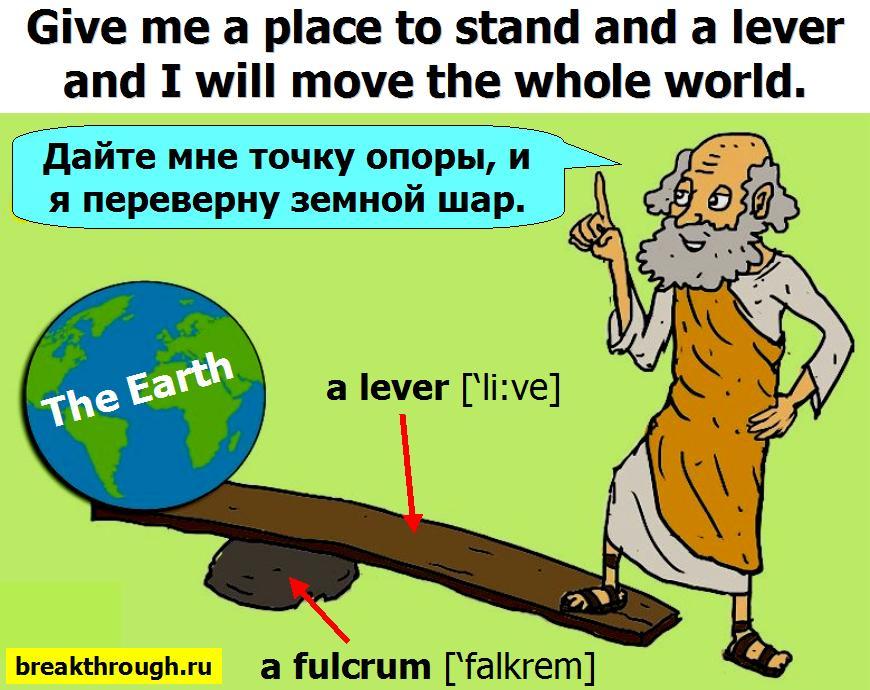 Дайте мне точку опоры и я переверну мир земной шар