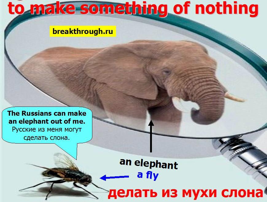 делать раздувать из мухи слона