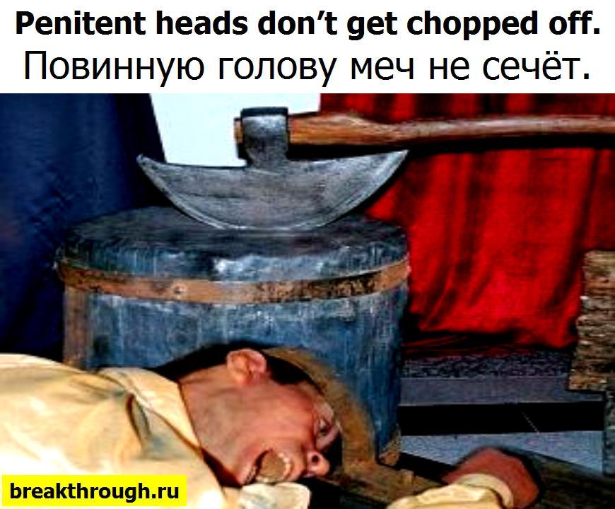 Повинную голову и меч не сечёт