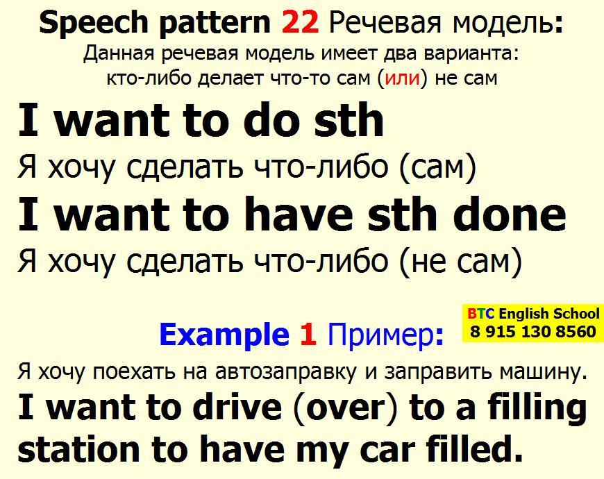 Речевая модель 22 I want to do to have something done Александра Газинского Школа BTC English