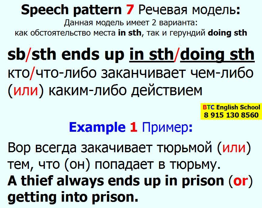 Речевая модель 7 good luck to sb somebody doing sth something Александра Газинского Школа BTC English